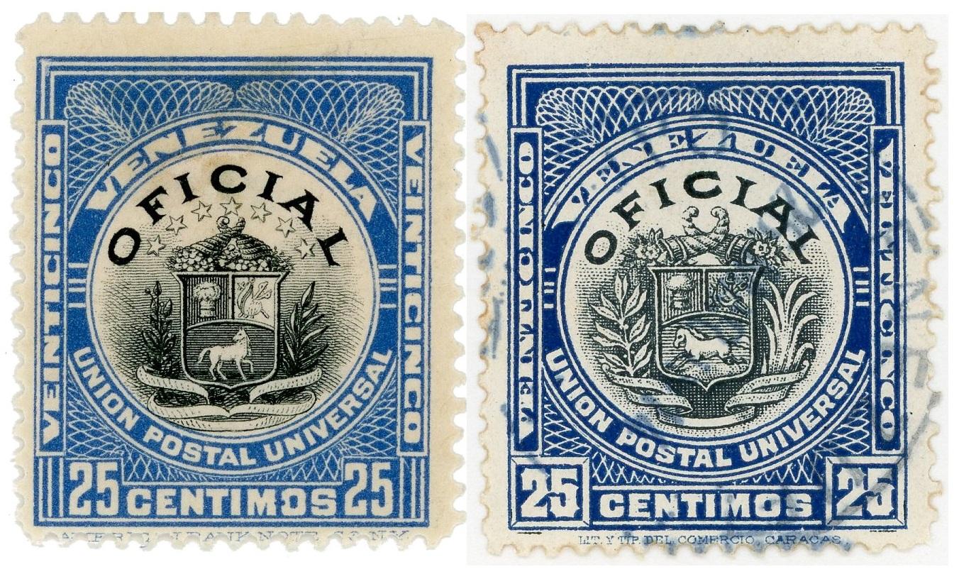 Estampillas Oficiales 1898-1911
