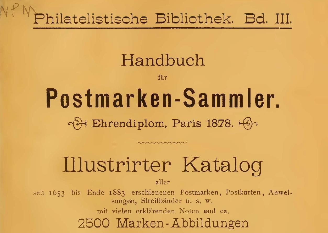 Antiguo Catálogo Alemán de Estampillas de Venezuela